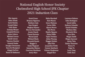 Chelmsford High School National English Honor Society 2021